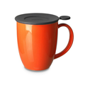 Teaware For Life Uni Brew-inMug w/Strainer, 16oz, Carrot