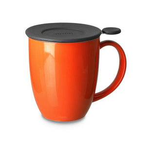 Teaware For Life Uni Brew-inMug w/Strainer, 16oz, Carrot