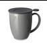 Teaware Brew-In-Mug, 16-oz (color GRAY  with tea strainer & lid) from Trailhead Tea, Sedona Arizona's Full-Leaf Tea Department Store