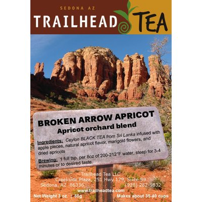 Tea from Sri Lanka BROKEN ARROW APRICOT from Trailhead Tea, Sedona Arizona's Full-Leaf Tea Department Store