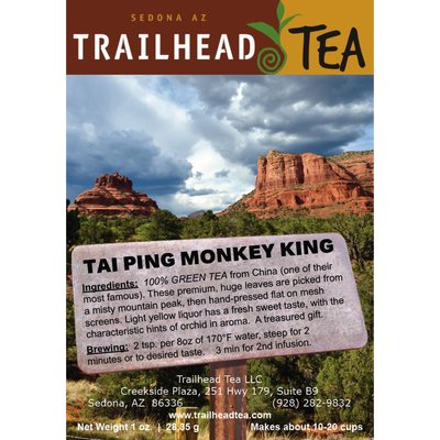 Tea from China Tai Ping Hou Kui Monkey King