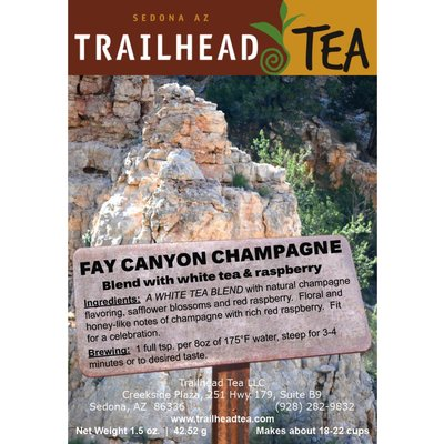 Tea from China Fay Canyon Champagne Raspberry from Trailhead Tea, Sedona Arizona's Full-Leaf Tea Department Store