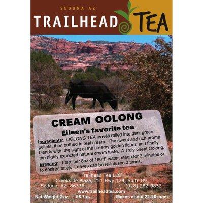 Tea from China Cream Oolong Tea from Trailhead Tea, Sedona Arizona's Full-Leaf Tea Department Store