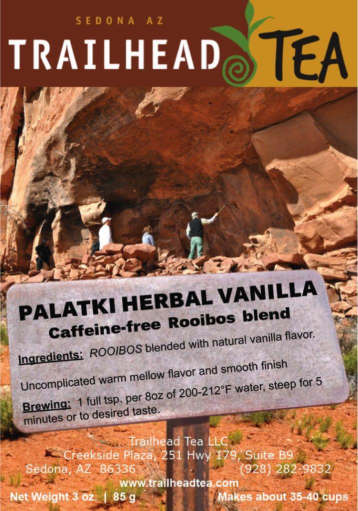 Palatki Herbal Vanilla Rooibos Tea - Sedona Arizona's Full-Leaf Tea Store
