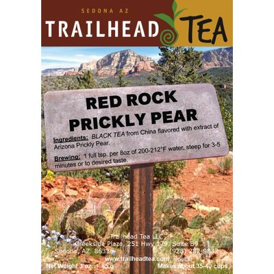 Tea from China RED ROCK PRICKLY PEAR BLACK from Trailhead Tea, Sedona Arizona's Full-Leaf Tea Department Store
