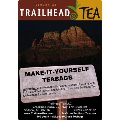 Teaware Make-It-Yourself Tea Bags (400 pack) with tag