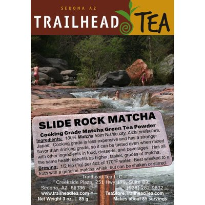 Tea from Japan Slide Rock MatCha (Cooking Grade) Green Tea Powder from Trailhead Tea, Sedona Arizona's Full-Leaf Tea Department Store