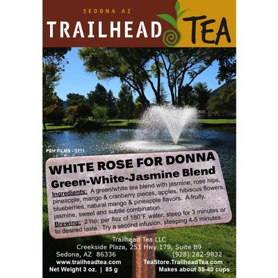 Tea from China WHITE ROSE FOR DONNA from Trailhead Tea, Sedona Arizona's Full-Leaf Tea Department Store
