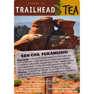 Tea from Japan SenCha, Fukamushi (Deep Steam) Green Tea from Trailhead Tea, Sedona Arizona's Full-Leaf Tea Department Store