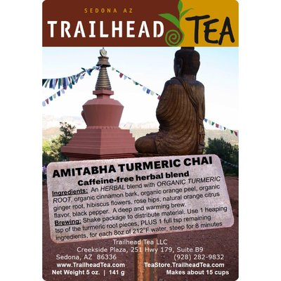 Herbal Blends AMITABHA TURMERIC CHAI from Trailhead Tea, Sedona Arizona's Full-Leaf Tea Department Store