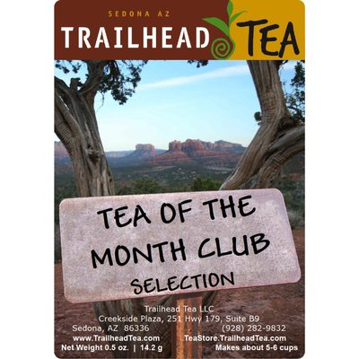 Tea Blended Tea-Of-The-Month-Club is a variable selection, offered as a free half ounce bonus, to any web order over $40.