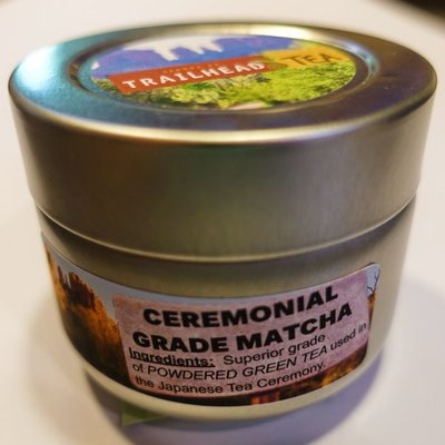 Tea from Japan MatCha (Ceremonial Sakura Grade) Green Tea Powder from Trailhead Tea, Sedona Arizona's Full-Leaf Tea Department Store