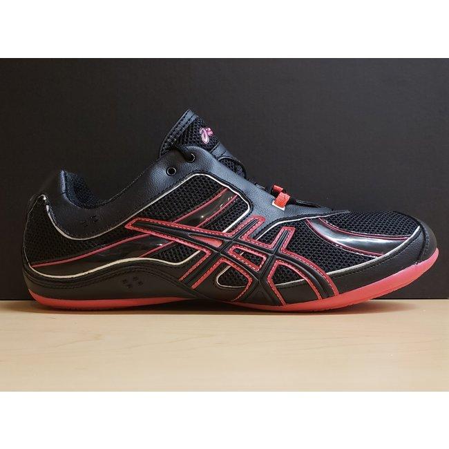 Asics Gel-Rhythmic, Size 8.5, Black/Red/Silver