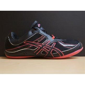 Asics Gel-Rhythmic, Size 8, Black/Red/Silver