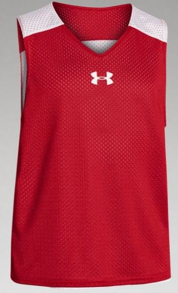 Youth Under Armour Reversible Pinny-Red/White
