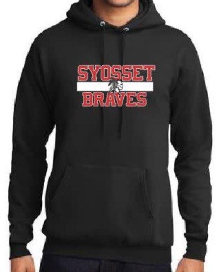 Port & Co Syosset Braves Hoodie Youth Medium