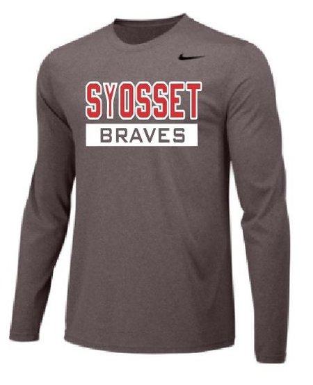 Nike Boys Long Sleeve Syosset Legend Tee Youth Large