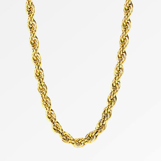 The Gold Gods GoldGods 4mm Rope Chain 28in Gold