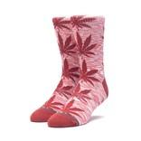 HUF Melange Plantlife Sock Rose Wood Red