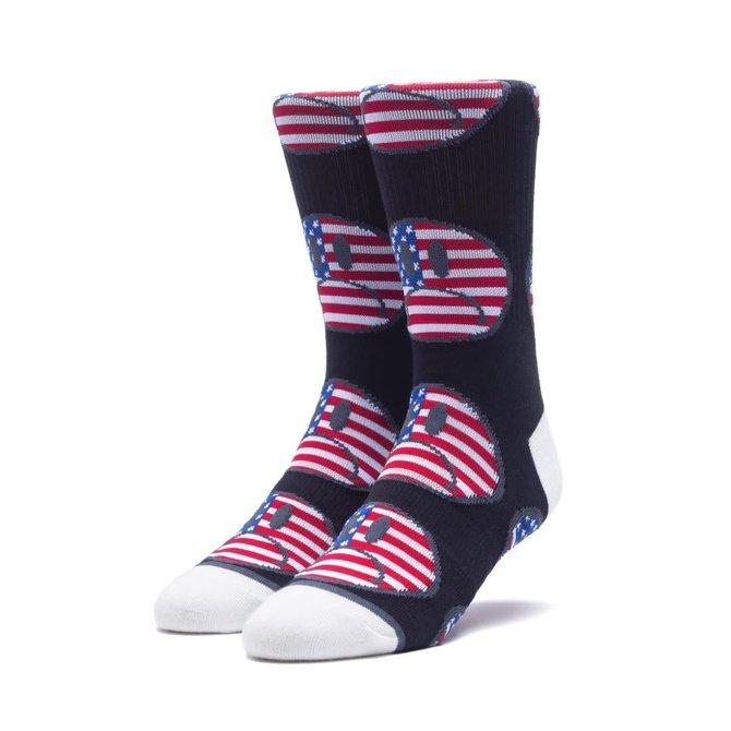 HUF Bummer USA Sock Black