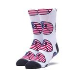 HUF Bummer USA Sock White
