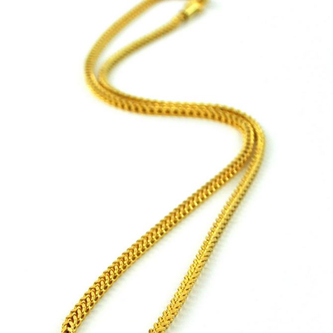 The Gold Gods GoldGods 2.5mm 22in Franco Chain Gold