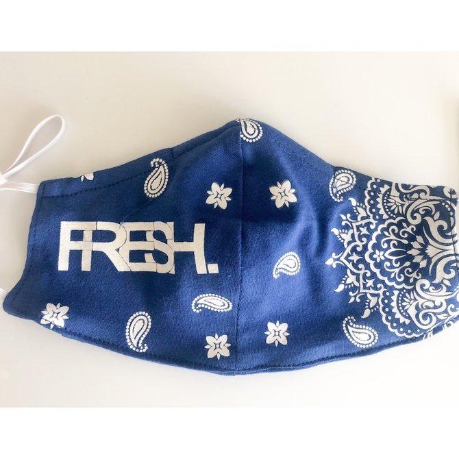 FRESH FRESH Face Mask V1 Royal Blue/White Paisley