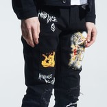 Crysp Crysp Nowell Painted Denim Black