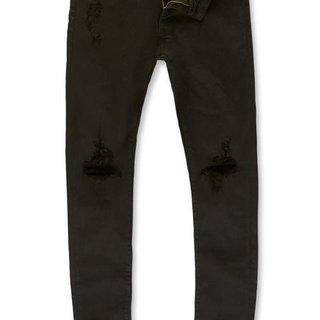 Jordan Craig Jordan Craig JM3314A Jet Black Jeans w/ Open Shreds