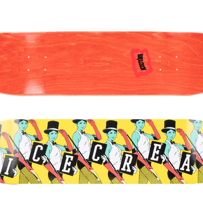 Ice Cream Ice Cream Top Hat Skate Deck Black