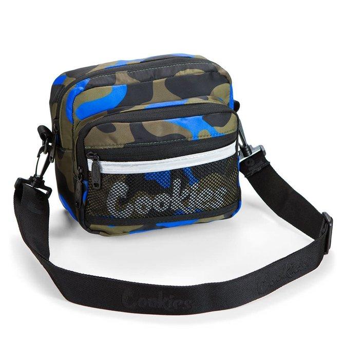 Cookies Cookies Vertex Ripstop Nylon Crossbody Bag Blue Camo