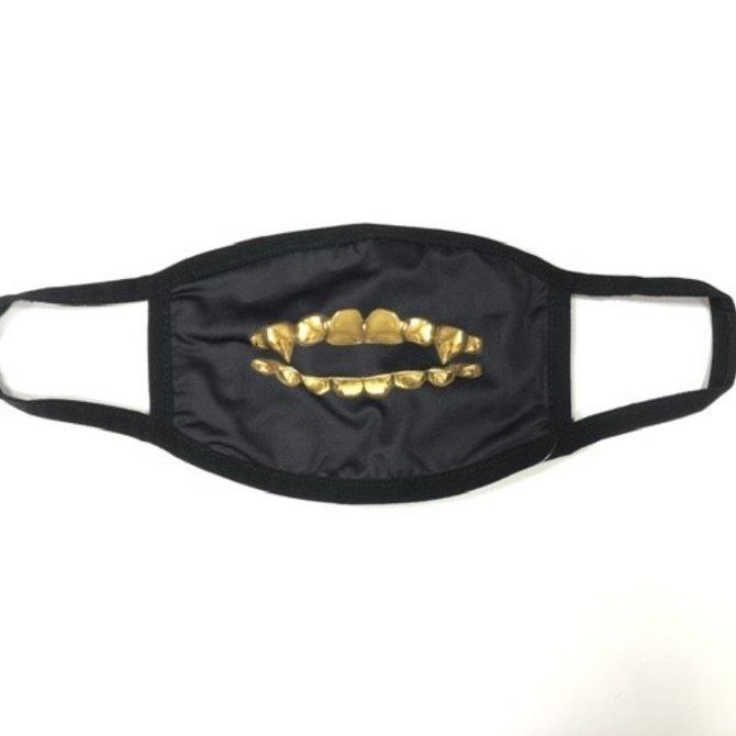Maskot Maskot Fangs Mask Gold