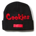 Cookies Cookies Pylon Knit Beanie Black