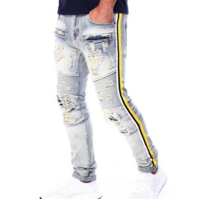Preme Preme PR-WB-243 Russell Biker M Indigo Yellow Tape