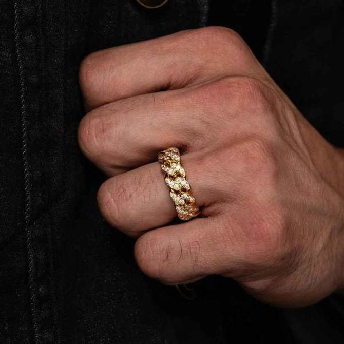 The Gold Gods GoldGods 6MM Diamond Cuban Ring Gold