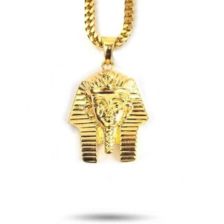 The Gold Gods GoldGods 22In. Micro Pharoah Head Necklace Gold