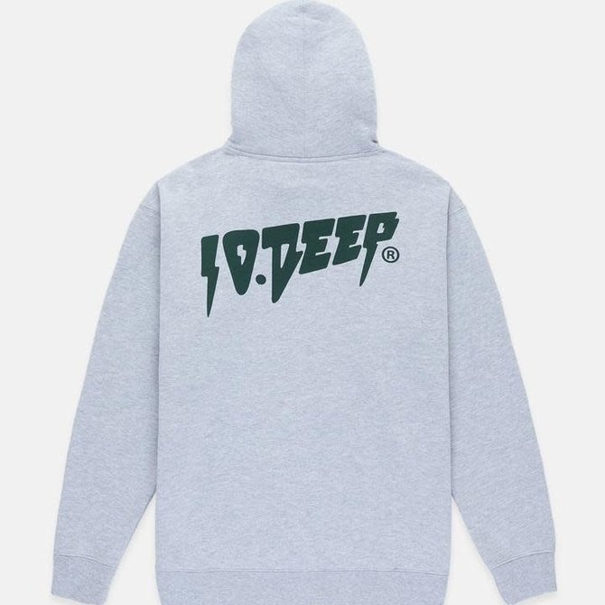 10 Deep 10 Deep Logo Hoodie Heather Grey/Olive