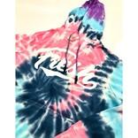 FRESH FRESH Tie Dye Cursive Logo Hoodie Cotton Candy