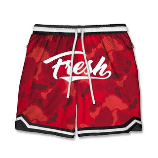 FRESH FRESH Duck Camo Shorts Red