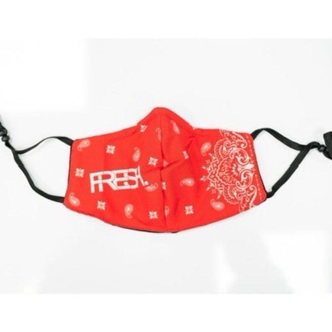FRESH FRESH Face Mask V2 Paisley Red/White