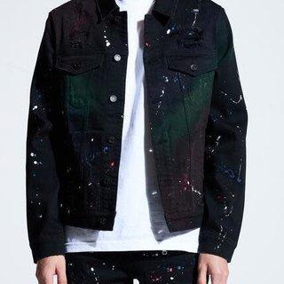 Crysp Crysp Bering Denim Jacket Black Paint
