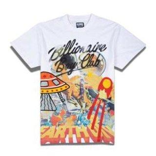 Billionaire Boys Club BBC Battle Earth SS Knit White