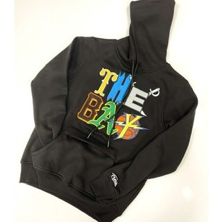 FRESH FRESH The Bay Embroidered Hoodie Black