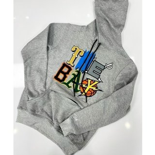 FRESH FRESH The Bay Embroidered Hoodie Grey