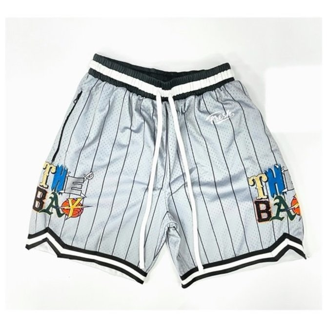 FRESH FRESH The Bay Hoop Short Cool Grey Pinstripe