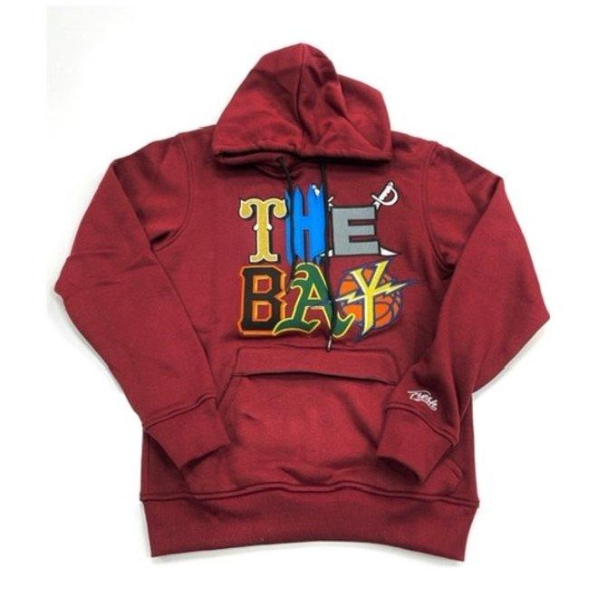 FRESH FRESH The Bay Embroidered Hoodie Burgundy