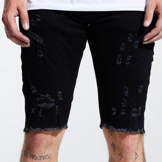 Crysp Crysp Atlantic Denim Shorts Jet Black