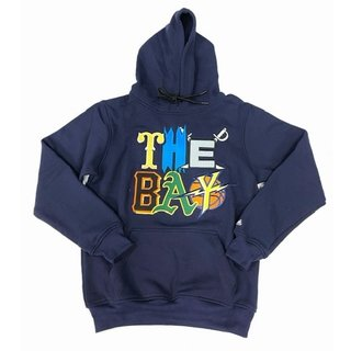 FRESH FRESH The Bay Embroidered Hoodie Navy