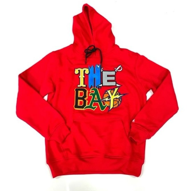 FRESH FRESH The Bay Embroidered Hoodie Red