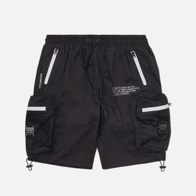 8&9 Combat Nylon Shorts Black 3M